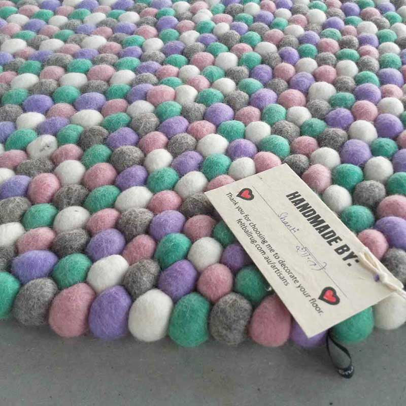 Unicorn Felt Ball Rug