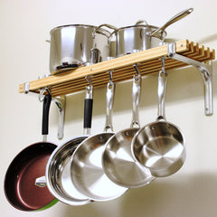 Cookware Organizer Pot and Pans Rack Wall Mounted Pots and Pans Rack Pots Organizer