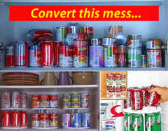 2 Tier Soda Can Canned Goods Vegetable Soup Can Carousel Space Saver Organizer Storage