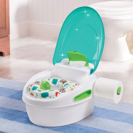 Enjoyable Potty Training Chair Seat W Lid Wipes And Toilet Paper Holder Learning System Short Links Chair Design For Home Short Linksinfo