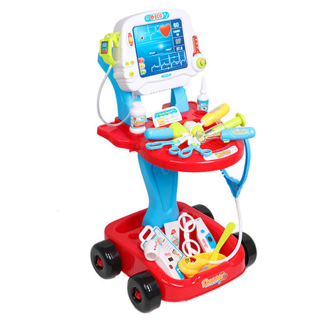 Kids,Toddlers Pretend Play Doctors Complete Trolley Interactive ECG  Realistic Playset