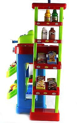 Kids Pretend Play Grocery Store Cash Register Shopping Cart Educationa