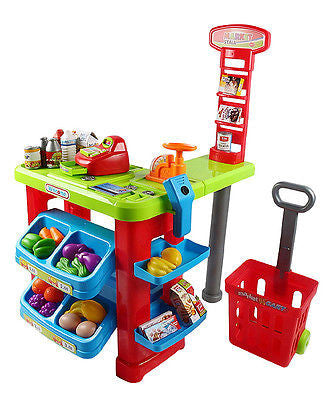 Kids Pretend Play Grocery Store Cash Register Shopping