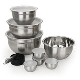 23 Piece Stainless Steel Mix & Storage Bowl Set, Mixing Bowls with Lids & Measuring Cups