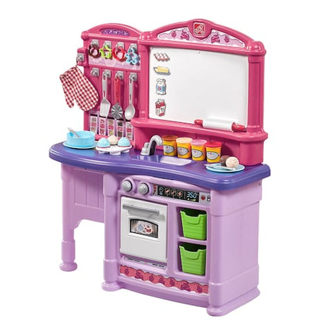 Kids Step2 Pretend Play Complete Interactive Toy Kitchen Playset with Lights & Sounds