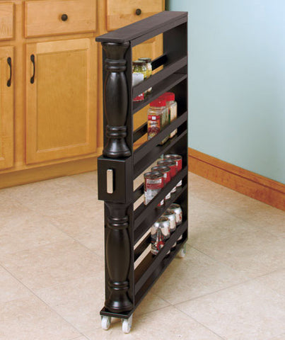 Slim Rolling Slide Out Kitchen Storage Cabinet Can and ...