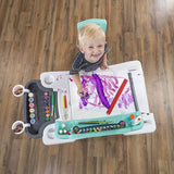 Step 2 Deluxe Desk And Stool Creative Art Projects & Organizer Center with Splat Mat