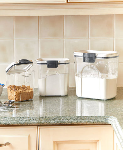 Cereal, Grains, Rice, Flour,Sugar Storage Airtight Canister Organizer Set wi Locking Lids