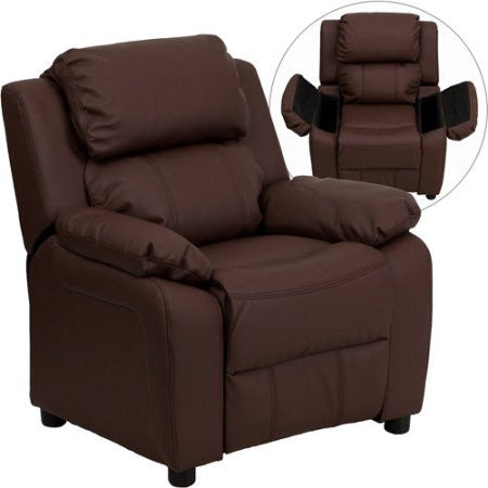 Kids Children Toddlers Upholstered Leather Fabric Recliner Chair
