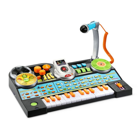 Toddler Musical Record And Learn KidiJamz Studio Keyboard with Mic Toy Playset