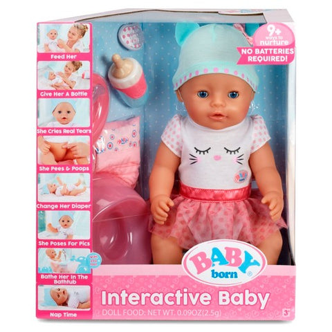 Baby Born Interactive Moving Crying Wetting Eating And