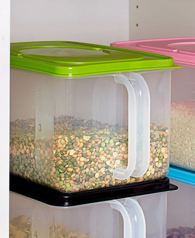 Modular Extra Large Canister Stackable Bulk Food Storage Container with Air Tight Lids & Modular Extra Large Canister Stackable Bulk Food Storage Container ...