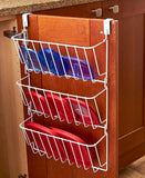 Kitchen Cabinet Cookware Pot & Pan Lid Tupperware Top Organizer Rack