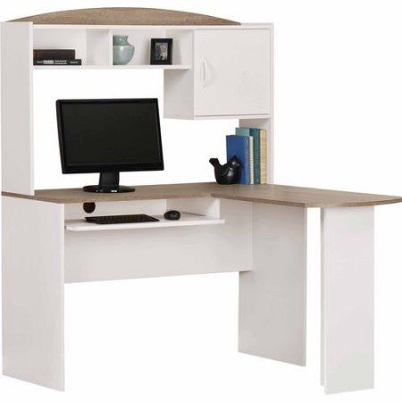 home office desks l shaped. Perfect Home LShaped Computer Corner Home Office Desk With Hutch U2013 Vicku0027s Great Deals Intended Desks L Shaped