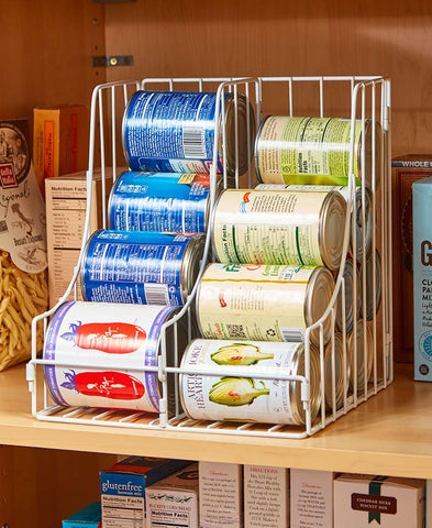 Kitchen Soda Cans Vegetable or Soup Can or Canned Goods Double Pantry Organizer