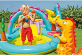 Inflatable Dinosaur Kiddie Water Slide And Adventure Water Park Pool