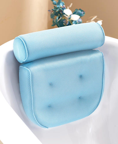 Bathroom Bathtub Neck & Back Spa Mesh Rest Pillow