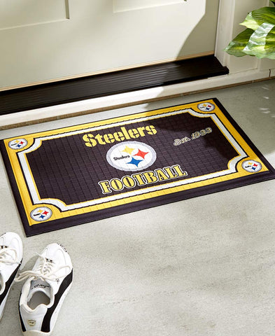 Official Licensed NFL Fan Embossed Welcome Door Mat Gift Idea
