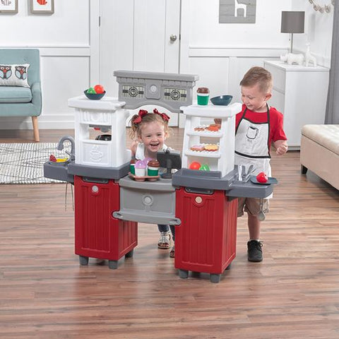 Step2 Pretend Play Complete Interactive Toy Cafe Coffee House Kitchen Playset W Credit Card Machine