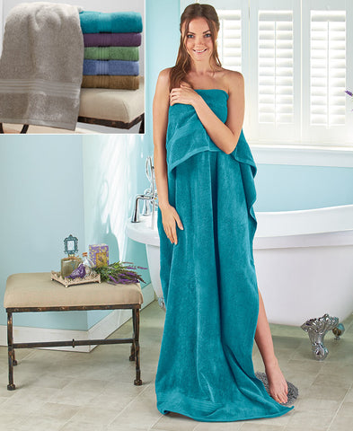 Oversized Absorbent 100% Terry Cotton Bath Sheet Towel