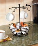 Kitchen Coffee Cup and Coffee Pod Storage Carousel Organizer