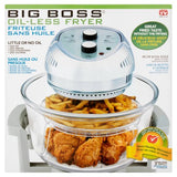 As Seen On TV Big Boss 16 Quart Extra Large Oil Free Oil Less No Grease Air Fryer Healthy Cooker