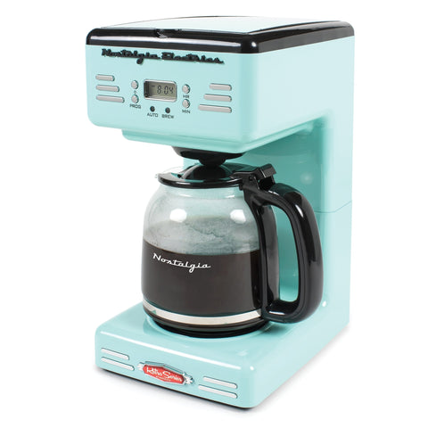 Nostalgic Retro Vintage Old Fashion CounterTop Programmable 12 Cup Coffee Machine