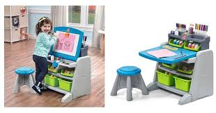 Kids Step2 Easel Desk & Stool Art Creativity Storage & Organizer Center