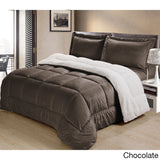 Ultra Mink Faux-Fur and Sherpa 3-piece Complete Comforter Bedding Collection Set