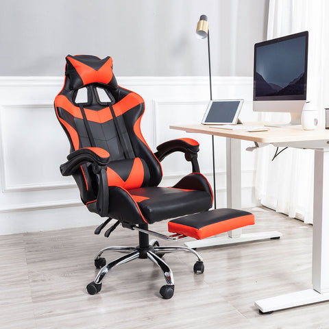 Ergonomic Game or Play Room,Gaming,Student Home Office Chair w Head & Foot Rest