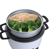 6-Cup (Cooked)  (3-Cup UNCOOKED) Pot Style Rice Cooker and Food Steamer