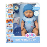 Baby Born Interactive ,Moving,Crying, Wetting,Eating and Drinking Baby Boy Doll