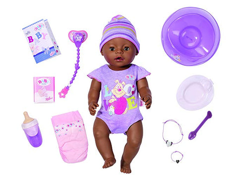 NEW Baby Born Interactive Talking,Moving,Crying, Wetting,Eating and Drinking Baby Doll
