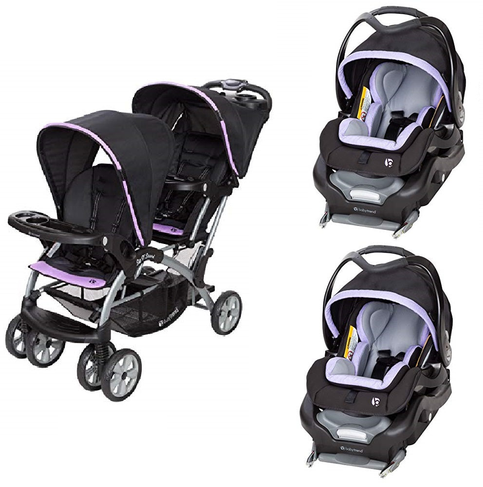Purple Double Sit N Stand Twin Stroller Travel System Bundle With 2 Ca Vick S Great Deals