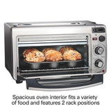 Small Space Saving Countertop Compact Dorm Room Size 2-in-1 Toaster & Oven