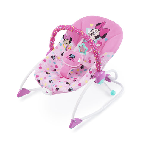 Disney Newborn Baby Minnie Mouse Infant To Toddler Musical Rocker