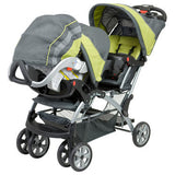 Baby Trend Double Sit N Stand Twin Stroller Travel System with 2 Infant Car Seats, Yellow