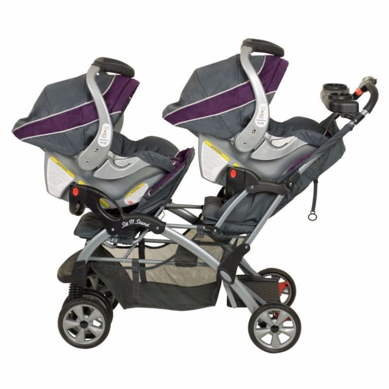 Double Twin Stroller Travel System With Infant 2 Car