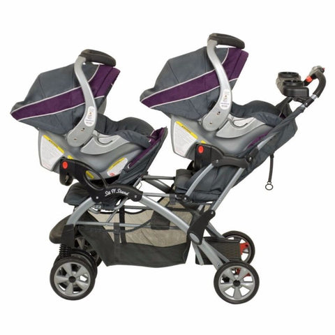 Double Twin Stroller Travel System With Infant 2 Car Seats