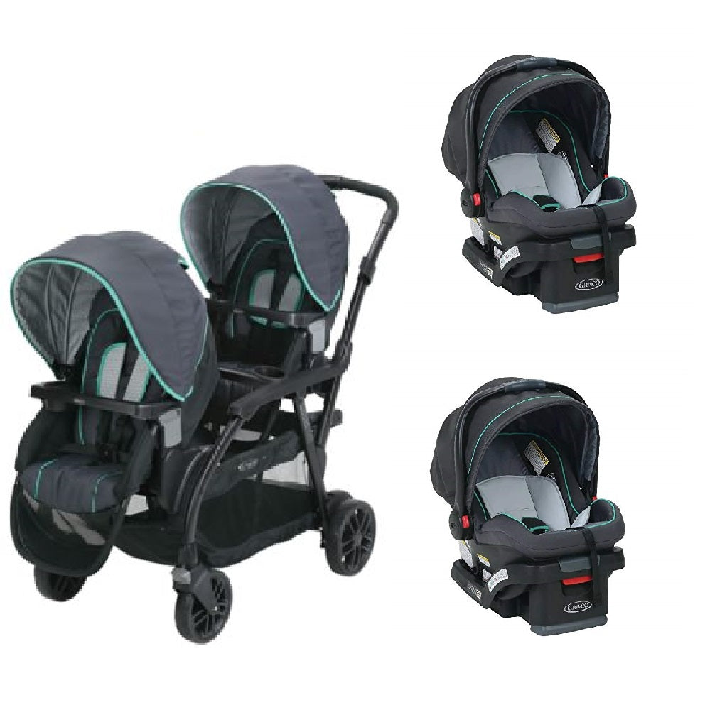 Graco Blue Baby, Infant Double Twin Sit N Stand Stroller ...