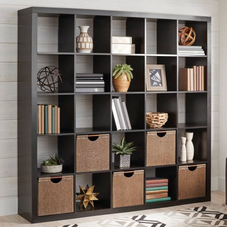 25 Cube Cubical Storage Display Organizer Shelf & Room Divider