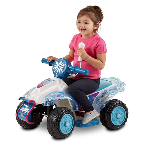 Kids Toddler ATV 6V Battery Powered Quad Electric Ride On Bike,Disney Frozen 2