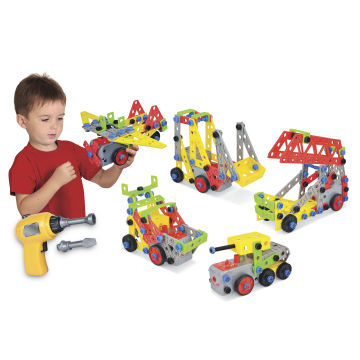 Kids STEM Educational Jr. Engineer Motorized Construction Toy Play Set