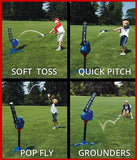 MLB 4 in 1 Batting, Automatic Pitching and Fielding Machine For Kids, Toddlers
