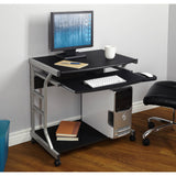 Small Compact Mobile Portable Student Computer Berkeley Desk with Wheels