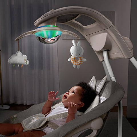 Newborn, Infant Baby Cradling Musical Swing with Night Light Projection Show