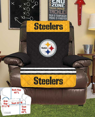 Official Licensed NFL Fan Game Day Man Cave Decor Chair/Recliner Seat Cover Gift Idea