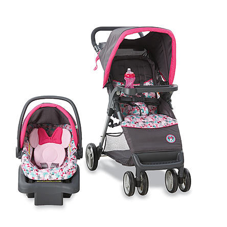 Disney Baby Stroller Travel System with Infant Car Seat, Minnie Mouse