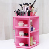 360 Degree Rotating Make up Organizer Cosmetic Display Brush Lipstick Storage Stand