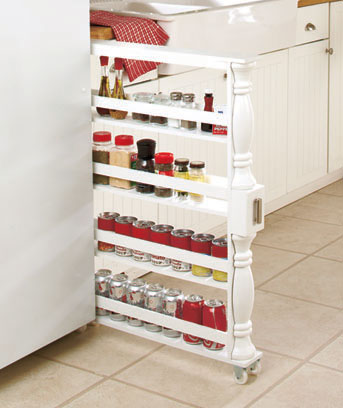 Slim Rolling Slide Out Kitchen Storage Cabinet Can And Spice Rack Orga U2013  Vicku0027s Great Deals